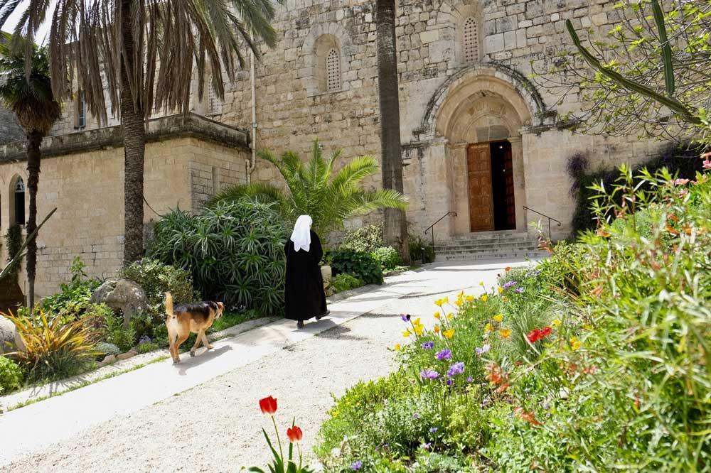 Naar het klooster in Abu Gosh